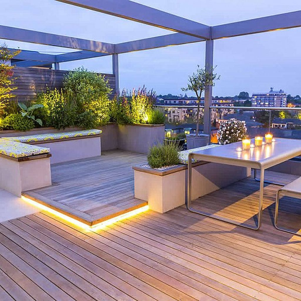 99 Cozy and Relaxing Rooftop Terrace Design Ideas You Will Totally ...