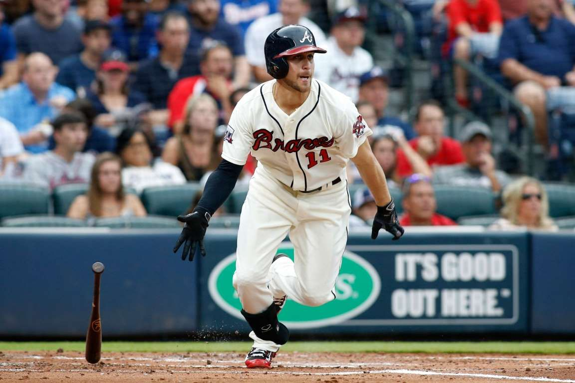 Inciarte Doubles Atlanta Braves Center Fielder Ender Inciarte Hits A Double Against The Colorado Rockies At Tu With Images Atlanta Braves Major League Baseball Braves