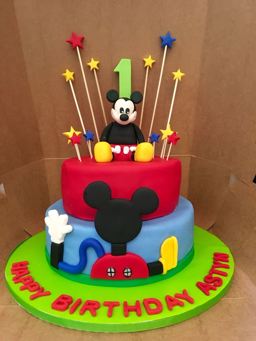 Mickey Mouse Cake Birthday Boy One Year Old Cake Chocolate