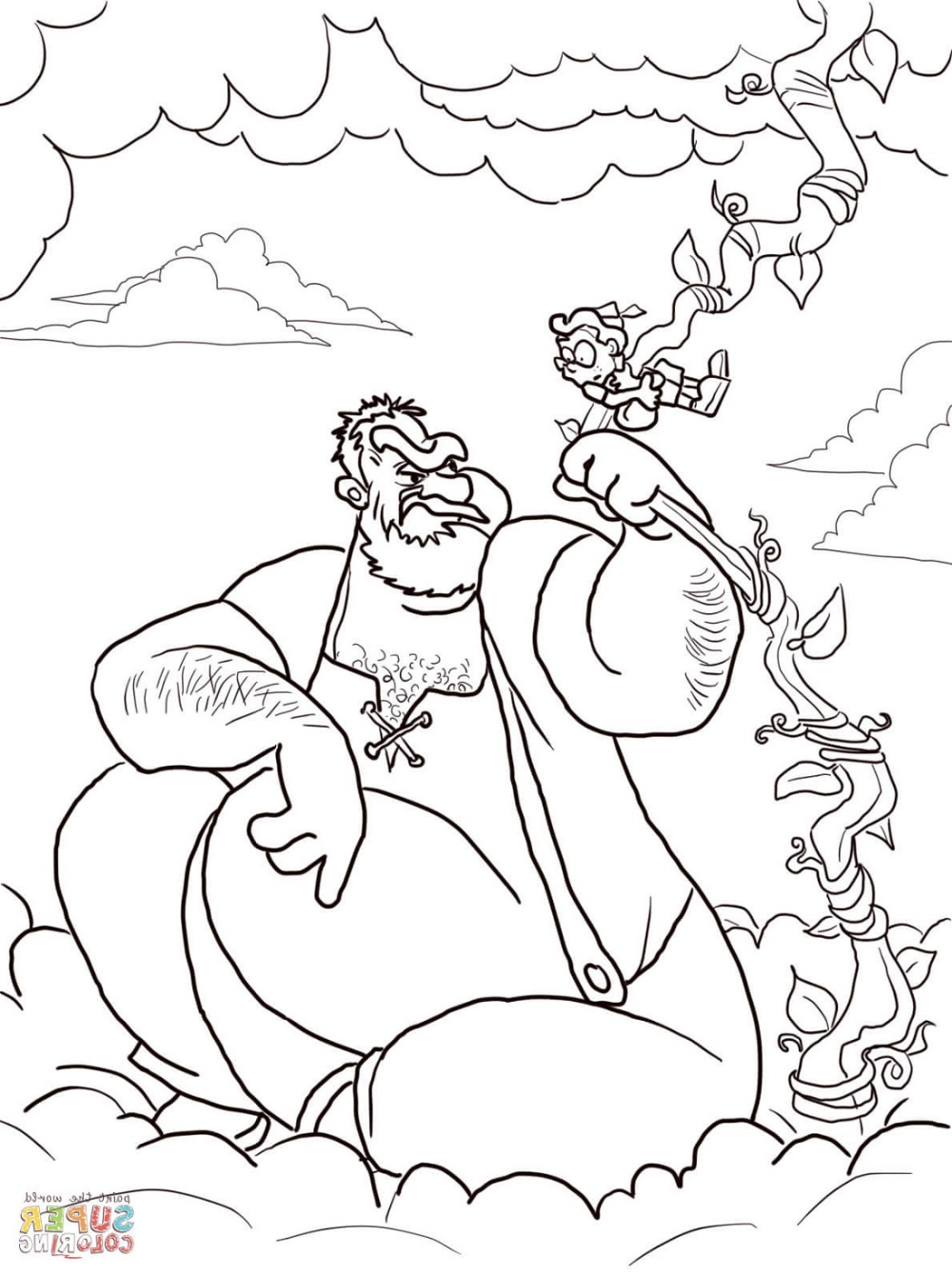 Jack And The Beanstalk Coloring Activities Coloring Pages Coloring Books Jack And The Beanstalk