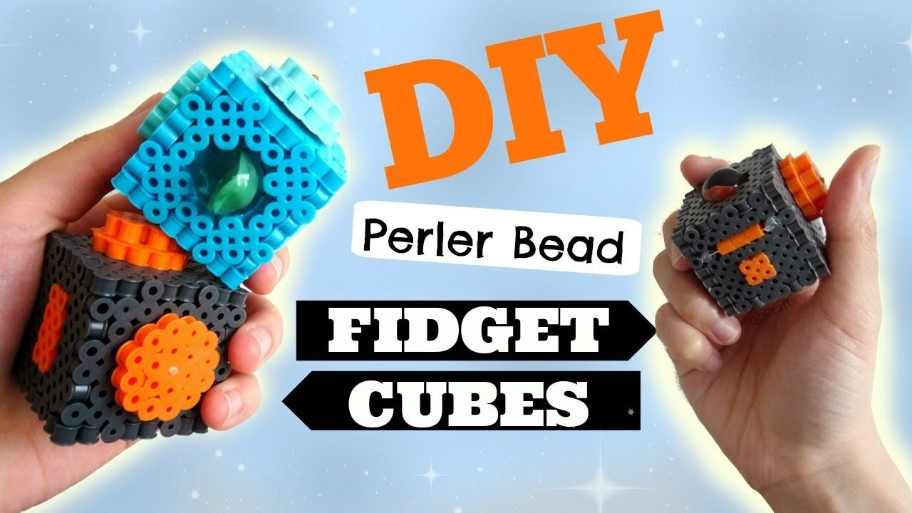 Diy 3d perler bead fidget cubes with images 3d perler