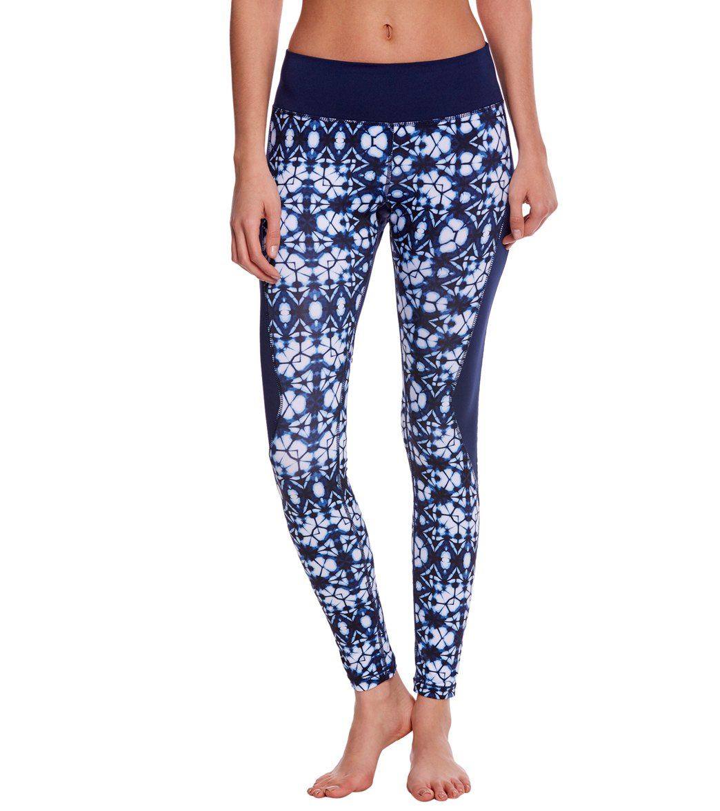 bc3aed47ff8c7 Pink Lotus Movement Shibori Printed Yoga Leggings at YogaOutlet.com ...
