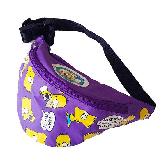 8390d16605b4 Homer and Bart Simpson Fanny Pack Bart Simpson by Foxcultvintage ...
