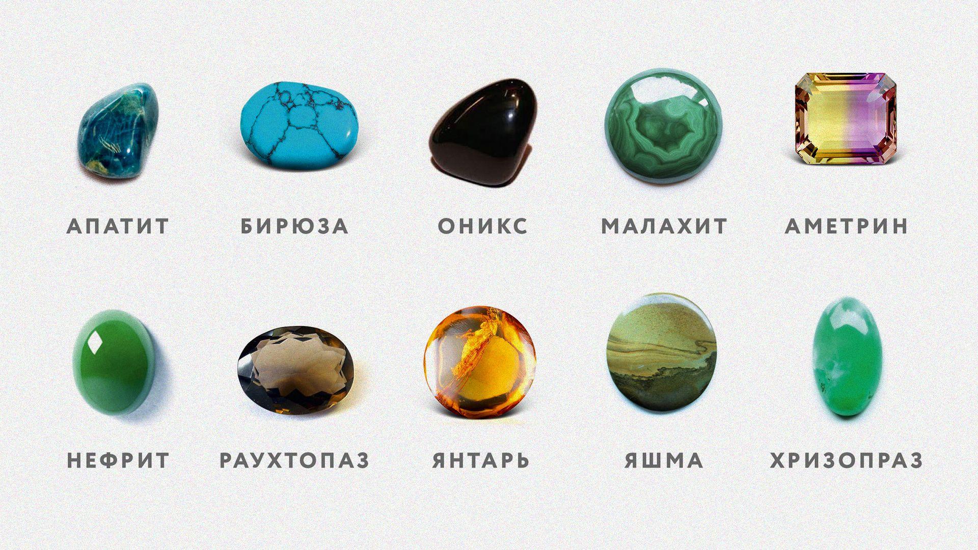 все драгоценные камни фото и названия