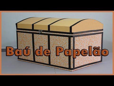 Bau Feito Com Caixa De Papelao Veja O Passo A Passo Youtube