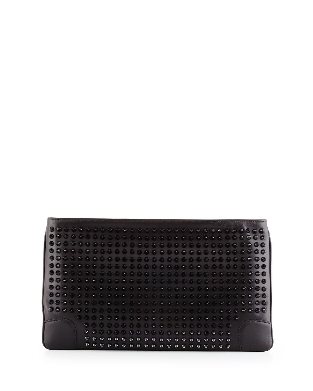 f9cb10c5d31 Christian Louboutin Loubiposh Studded Clutch Bag, Black | *Handbags ...
