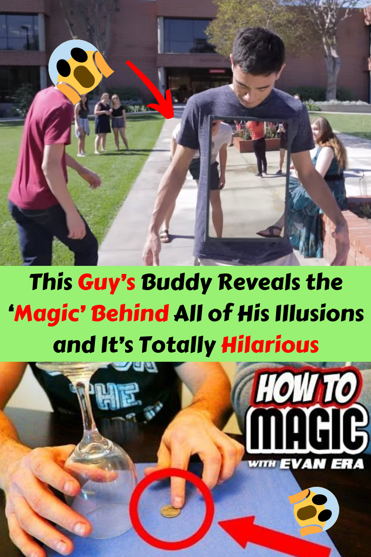 This Guy's Buddy Reveals the 'Magic' Behind All of His Illusions and It's Totally Hilarious is part of Mr bean funny - The sleight of hand and showmanship would be entertaining on its own, but the addition of the unflappable companion who gives it all away is BRILLIANT
