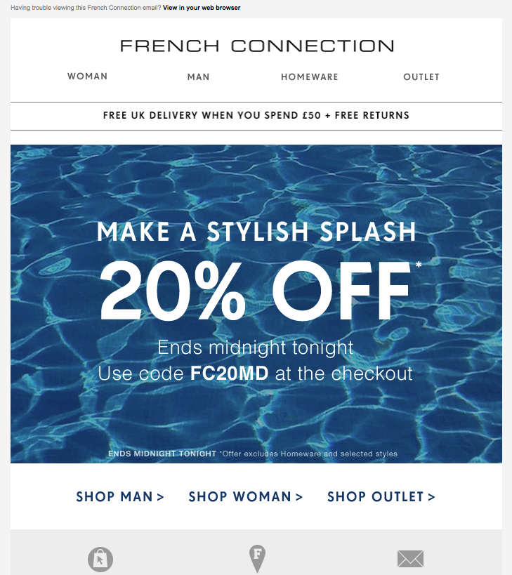 French Connection 20% OFF #Discount #Email