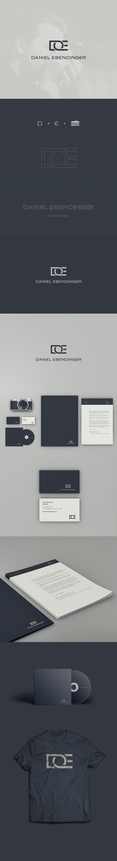 Daniel Ebendinger - Fotógrafo. Proposta de Identidade visual e material promocional.