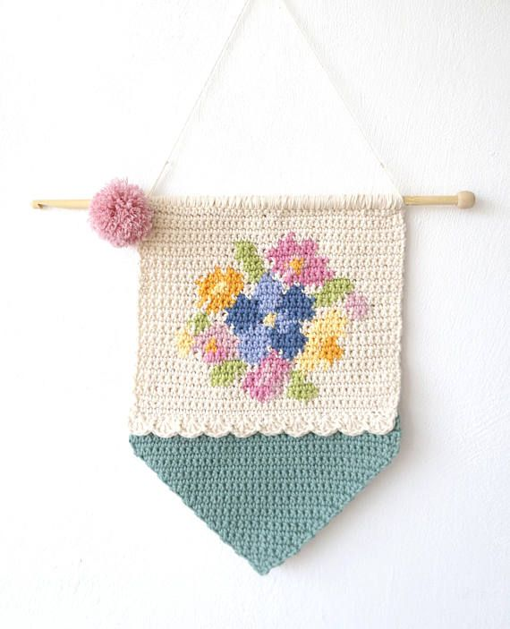 Patterns for Crochet, Girls Room, Country Chic, Flower Decoration ...