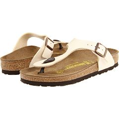 Birkenstock Gizeh Birko-Flor™ Bright White Patent Birko-Flor - Zappos.com Free Shipping BOTH Ways
