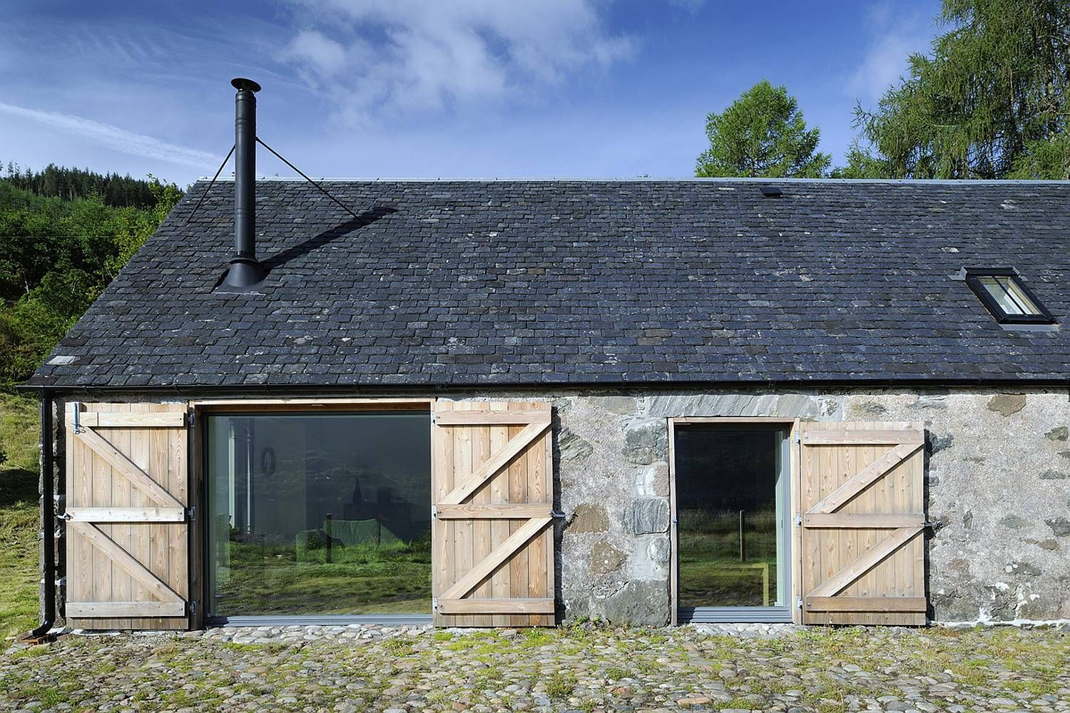 An Old Stone Horse Barn In Scotland Was Converted Into
