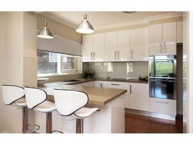 41 Marvelous Modern Small U Shape Kitchen Interior Design Ideas
