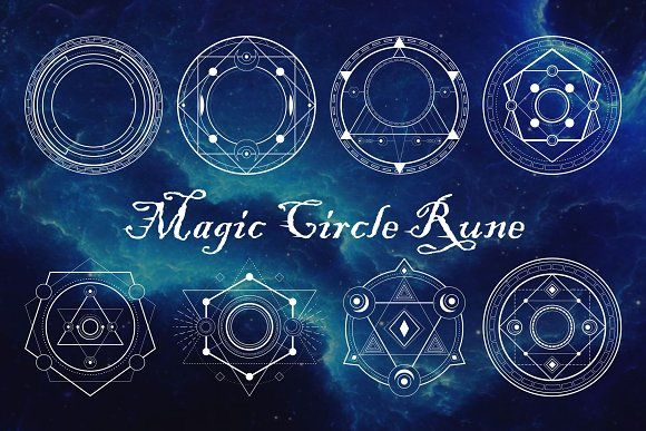 Magic Circle Rune by azhartz on @creativemarket #magiccircle
