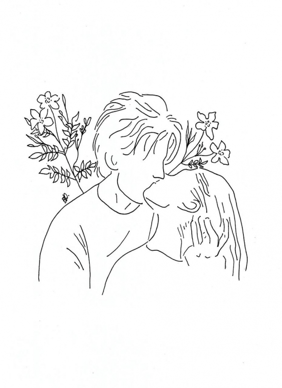 Couple In Love Drawing