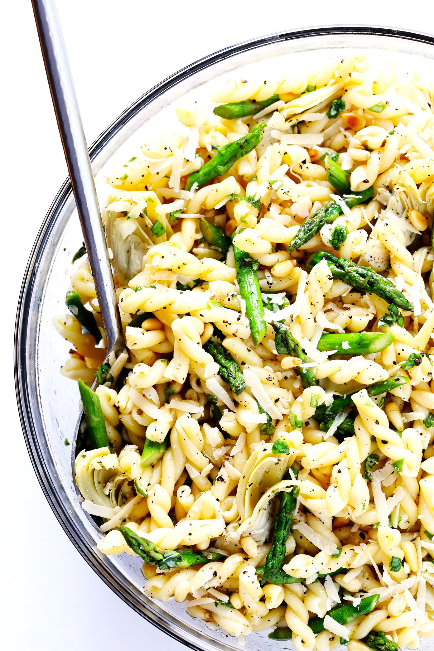 Lemony Artichoke Pasta Salad | Recipe | Lemon basil ...