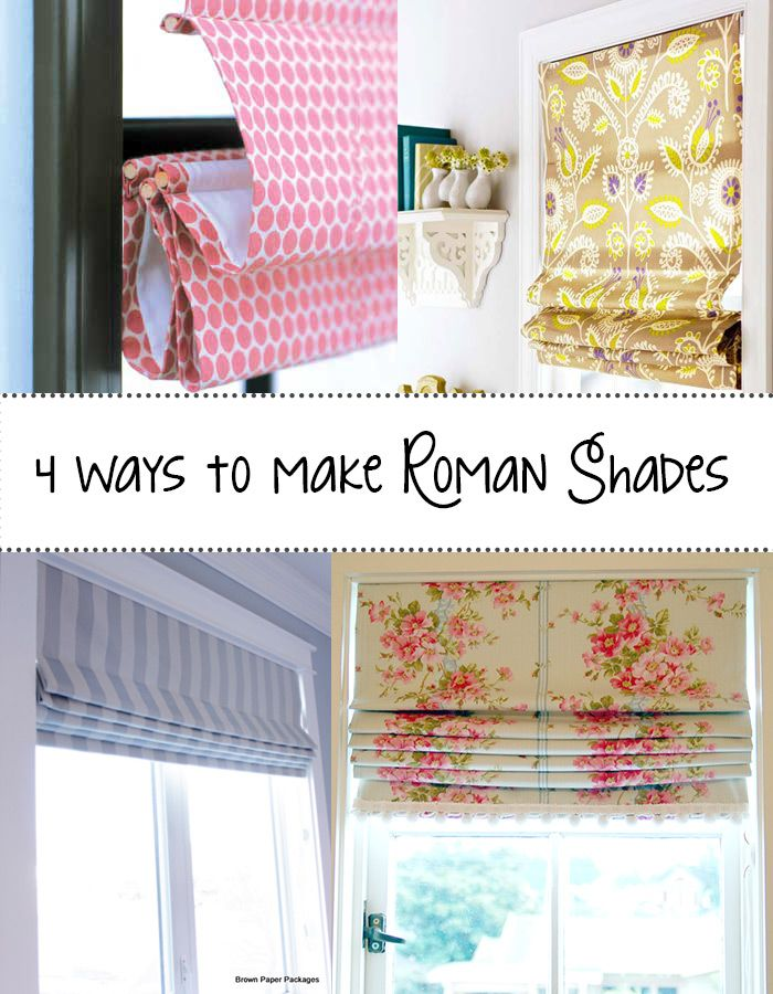 4-ways-to-make-Roman-Shades Sewing Pinterest Cortinas, Costura - telas para cortinas