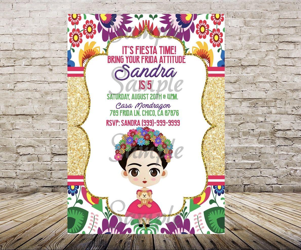 Imagenes De Frida Kahlo Para Imprimir: Frida Kahlo Invitations, Customized Item, Frida