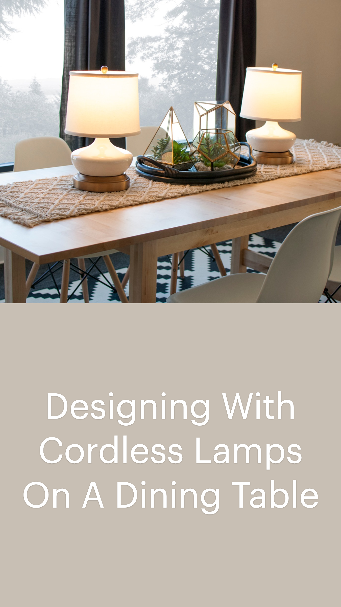 8 dining room cordless lamps ideas