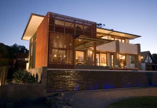 Modern House Design Built Of Eco Friendly Radial Timber Eco House Design Modern House Exterior Modern House Design