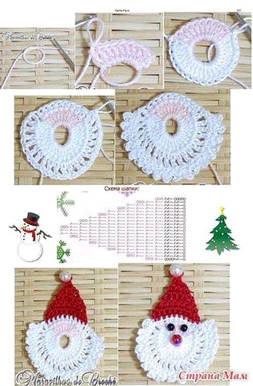 d corations de no l et ses grilles gratuites au crochet. Black Bedroom Furniture Sets. Home Design Ideas