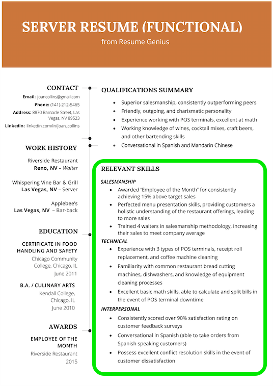 resume skills section  how to list skills on your resume