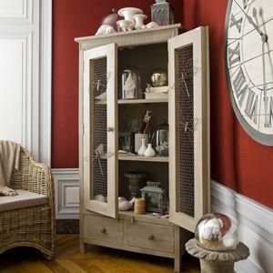 Armoire en manguier 2 portes 2 tiroirs Constance Jardin d\'Ulysse ...