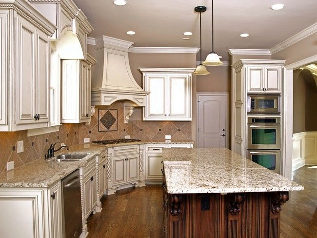 Glaze Kitchen Cabinets Antique White Farmhouse Kitchen Design