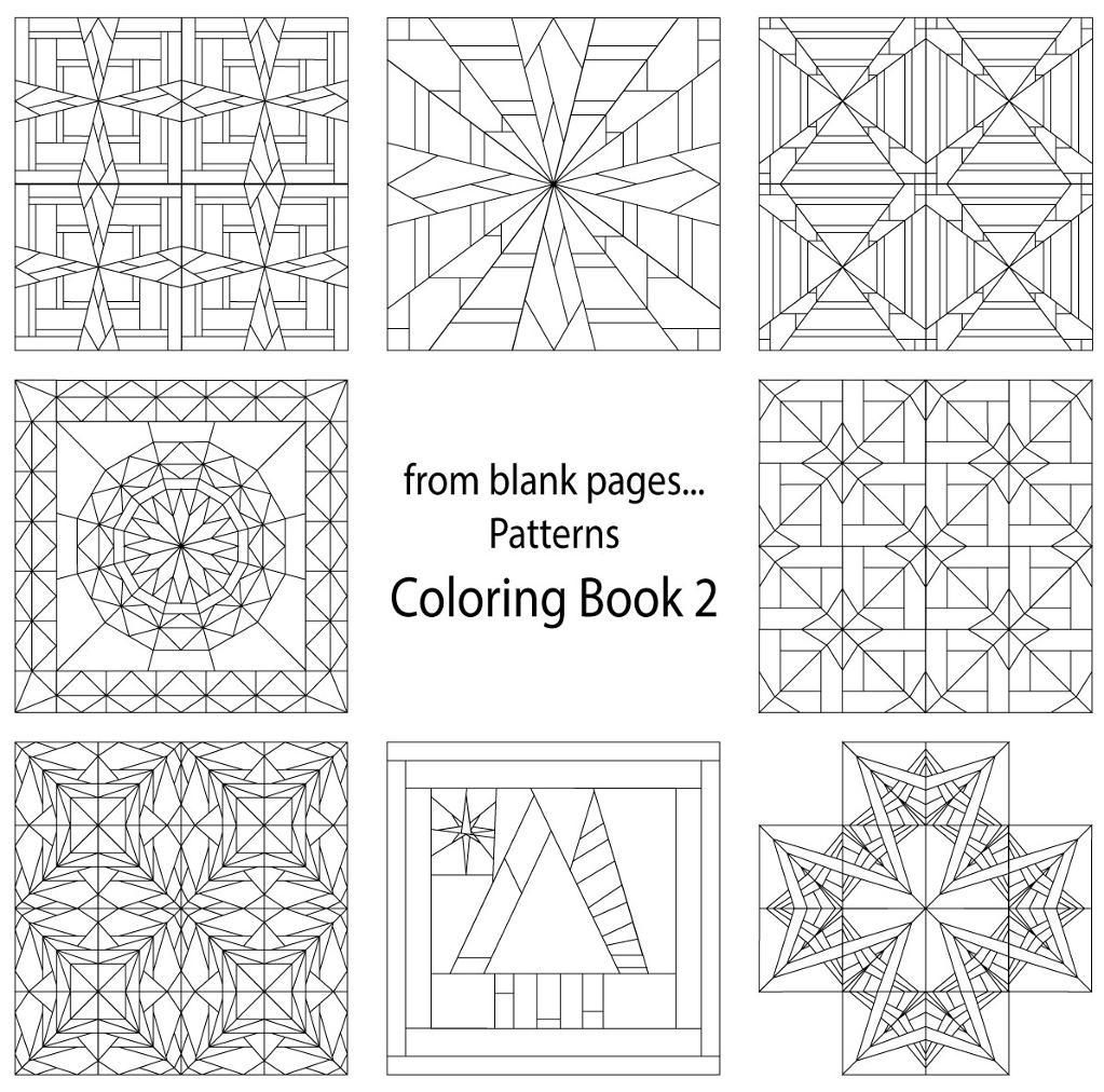 7 Name Quilting From Blank Pages Pattern Coloring Book 2 - quilt patterns coloring sheets