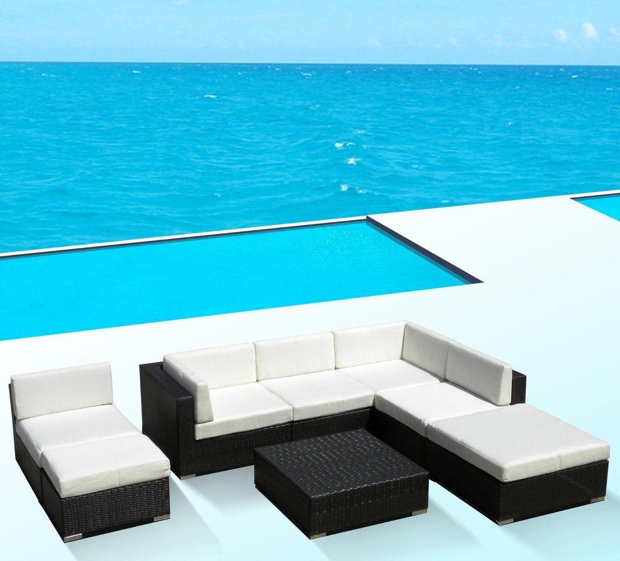 Vilano 8 Piece Sectional Modern Outdoor Patio Patio Sofa Patio Furniture For Sale