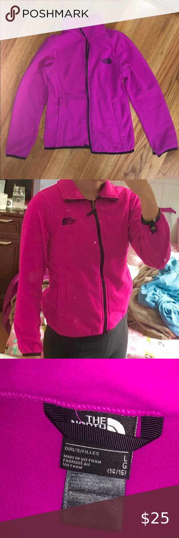 Hot Pink North Face Fleece Hot Pink North Face Fleece Size Large In Girls 14 16 Super Warm Thick Comfortable Pink North Face North Face Fleece The North Face [ 1740 x 580 Pixel ]