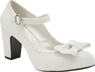 Red Or Dead White Golly Gosh Womens Low Heels Oh Golly Gosh, you can feel
