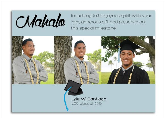 Free Thank You Card For Graduation Templates  Thank You Cards