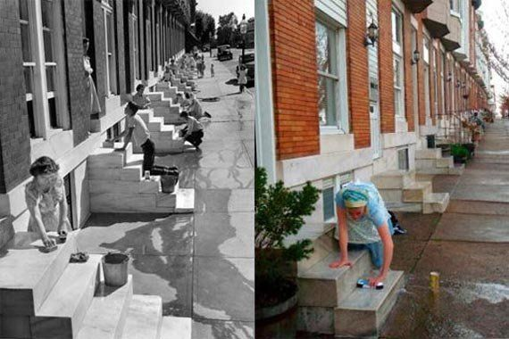Preserving Local Traditions Cleaning Marble Stoops Historic Baltimore Baltimore City Cleaning Marble