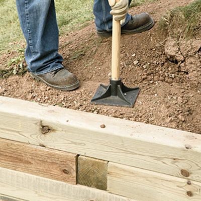 Building A Wooden Retaining Wall Home Depot Canada Wooden