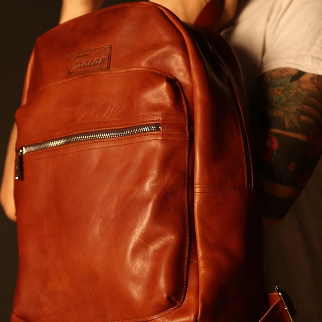 New backpack in vegetable tan leather handcrafted in Fracap.  #Fracap #style #backpack #leather #love #style #cool #dream #fashionoftheday #editoftheday #picoftheday #blog