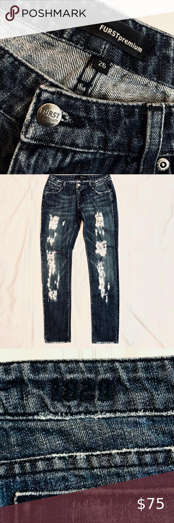 FURST PREMIUM Distressed Jeans in 2020 Distressed denim