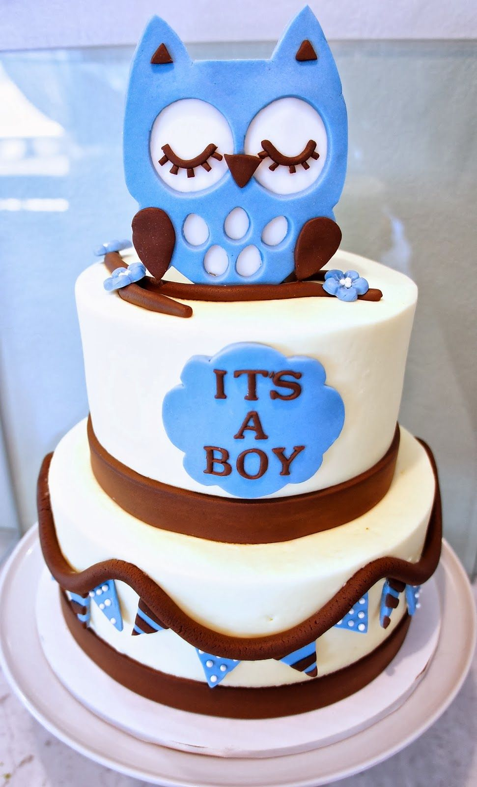 Owl Cake By Half Baked Co Owl Baby Shower Cake Cupcake