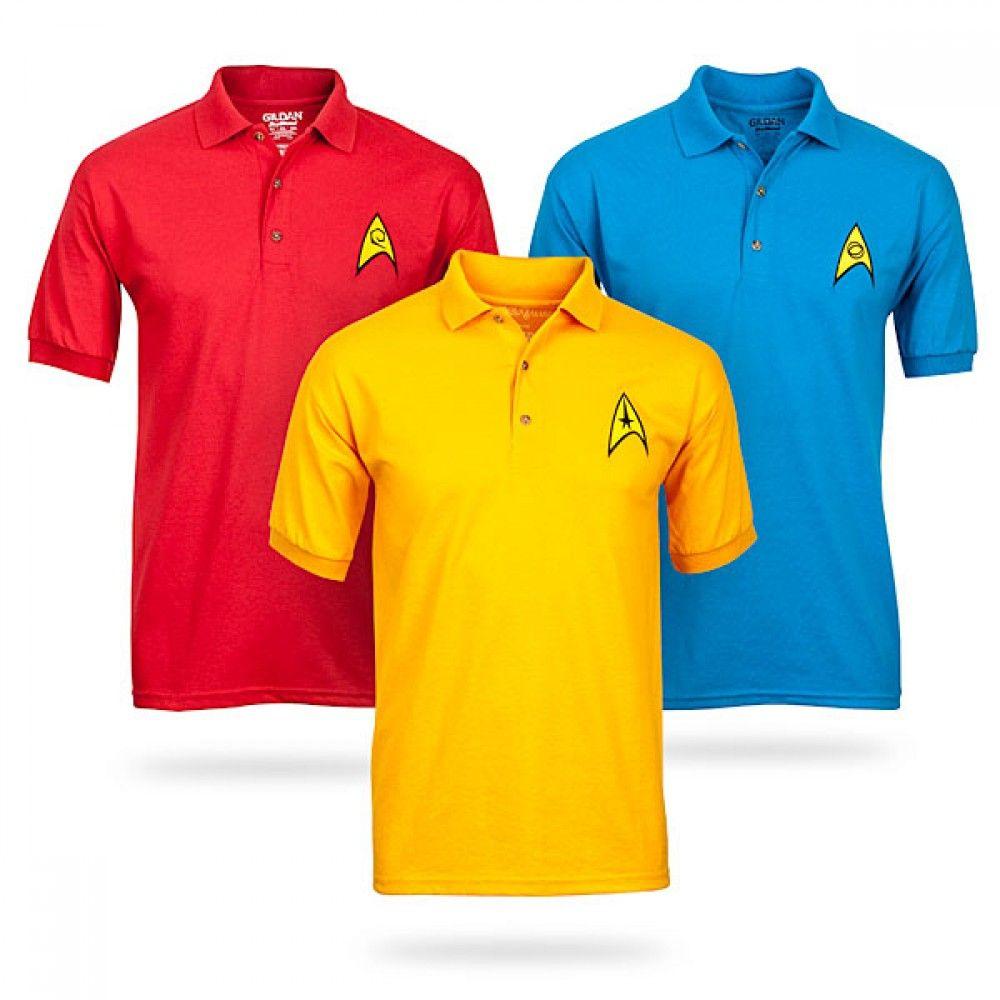 Star Trek Uniform Polo Shirts Star Trek Store Star