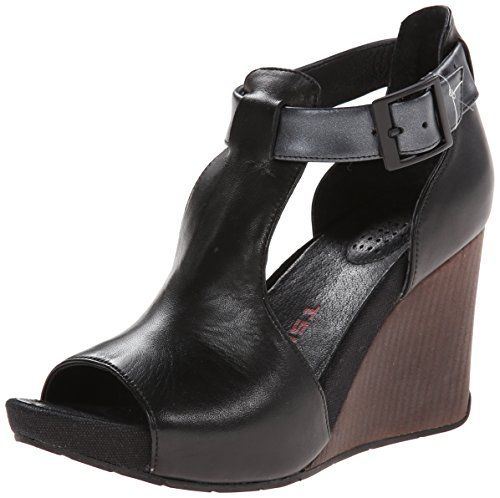 TSUBO Women's Nancie Wedge Sandal, Black, 6.5 M US TSUBO http://