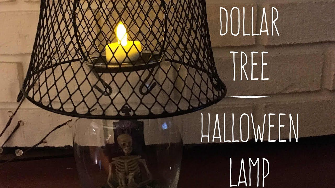 DIY Dollar Tree Halloween Lamp Decor 2017 Dollar tree