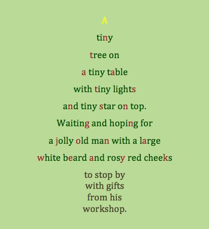 Poem About A Tiny Christmas Tree Concrete Poem Tiny Christmas Trees Christmas Quotes