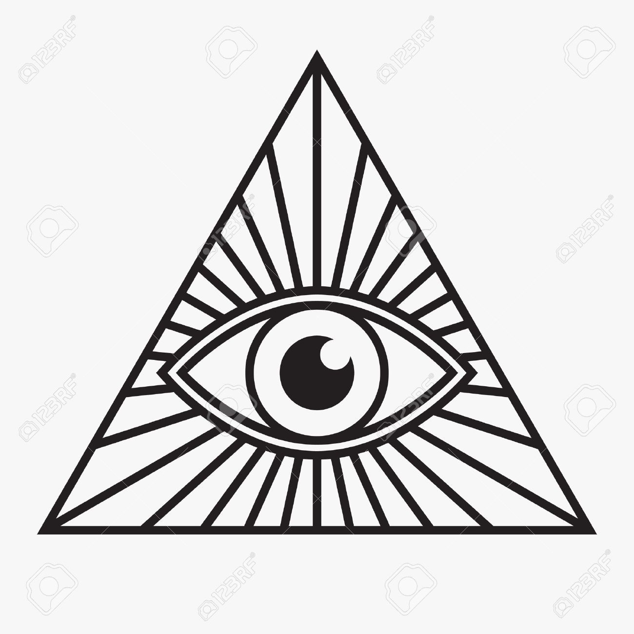all seeing eye symbol vector illustration tattoo pinterest rh pinterest com eye of providence vector free Four Leaf Clover Vector