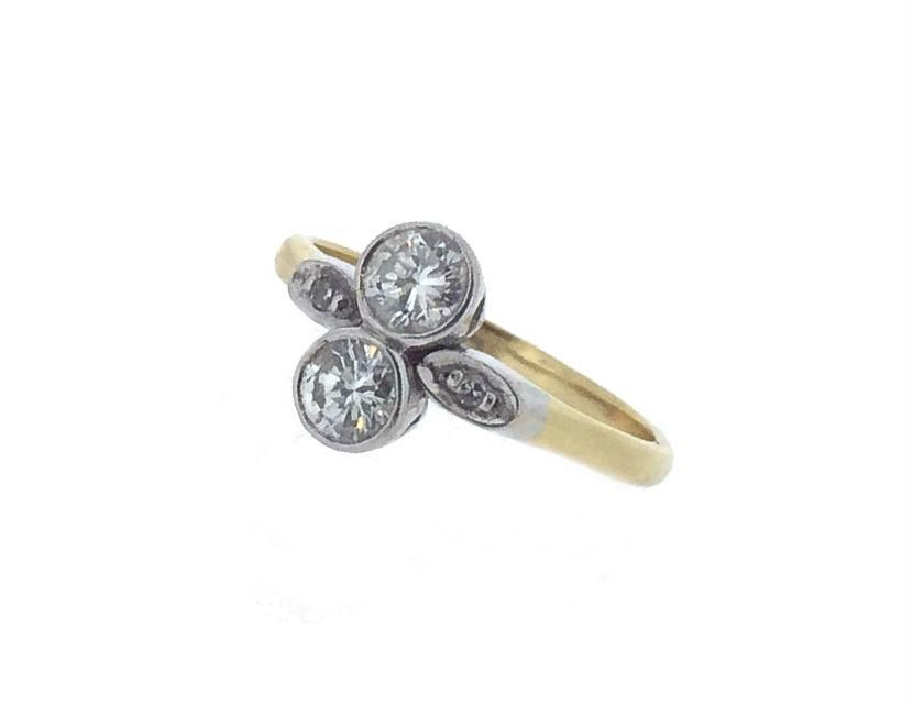 Valentine's Day is fast approaching....We have the most beautiful Edwardian Two Stone Diamond Ring in stock now...