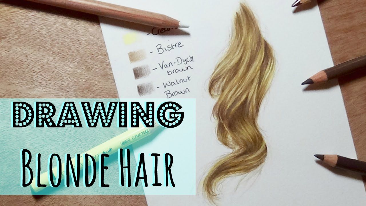 Realistic Blonde Hair In Coloured Pencil Using Prismacolor Pencils Tutorial By Kirsty Partridge Art On Color Pencil Drawing How To Draw Hair Colored Pencils