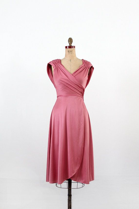 1970s Grecian draped disco dress | Vintage, Pink and Dresses