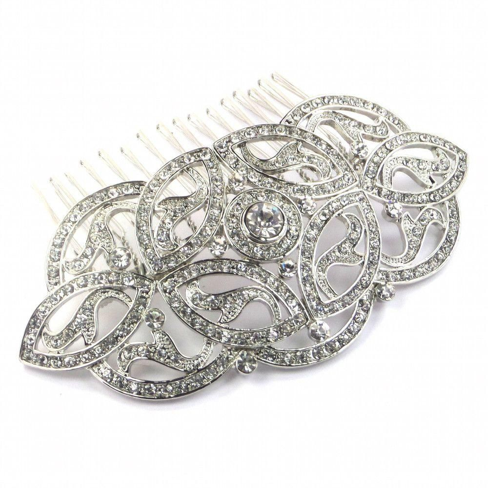 A beautiful Celtic inspired vintage silver hair comb. This medieval ...