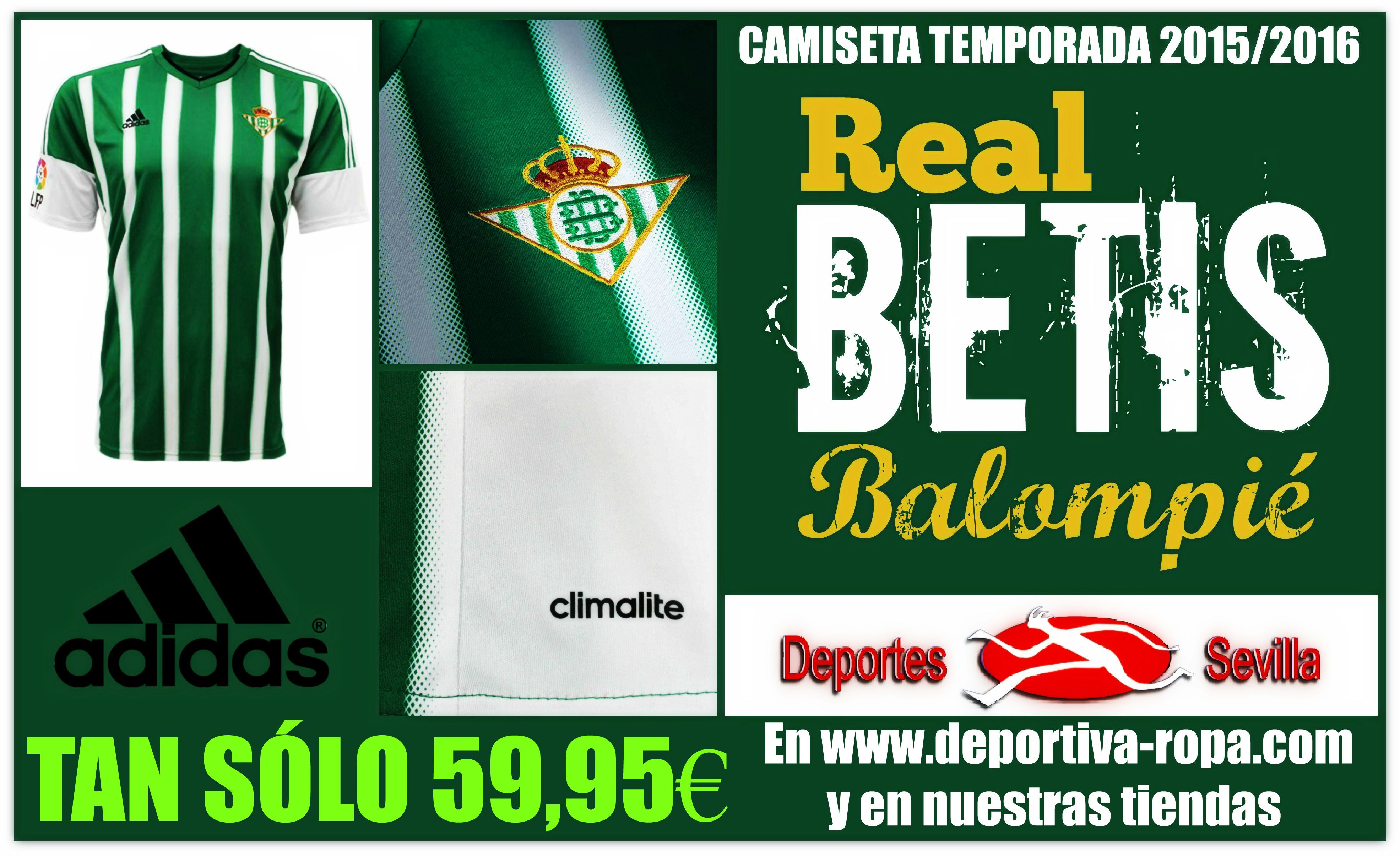 comprar camiseta Real Betis deportivas
