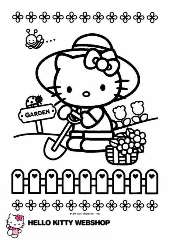 Hello Kitty Kleurplaten 2 Hello Kitty Colouring Pages Hello Kitty Coloring Hello Kitty