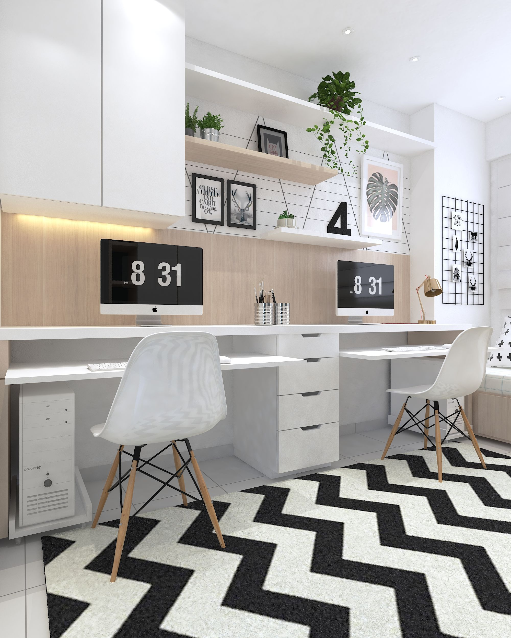 Home office interior ideas home office homeoffice clean  home office  pinterest  desks
